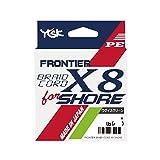 YGK) PE线条 植绒 磨毛编码 X8 披肩 150m 1.2号 20lb 绿色棕色