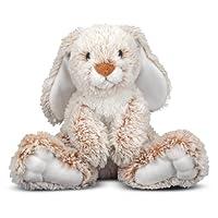 Melissa & Doug 兔子Burrow毛绒填充动物玩具(14英寸/约36厘米)