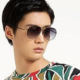 LOHO眼镜生活 男款时尚飞行员系列蛤蟆镜大框潮流墨镜偏光太阳镜 P3038