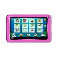 AXXO ST-215P - 儿童平板电脑,带父母区域和预装应用程序,用于学习和游戏,粉红色
