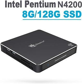 Beelink 双子座 T34 Intel Windows 10 迷你电脑 T45,Intel Pentium N4200, 8+128G
