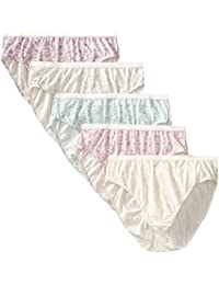 Just My Size 女士 Just My Size 5-pack Cotton Lace Effects Hi-cut Panty