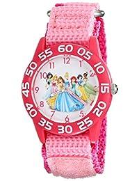 Disney W001990 Princess Time Teacher 手表带粉色尼龙带