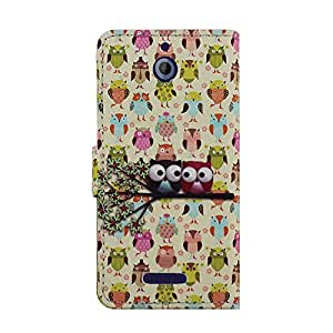 CP 2 in 1 Owl Printed Wallet Case -  Non-Retail Packaging  -  Design