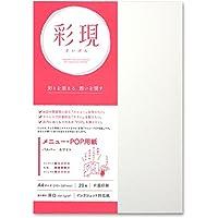 PCM竹尾 打印机纸 彩现 菜单・POP用 A4 199.7g/m2 A4 白色