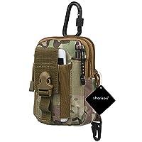 xhorizon SR 战术 MOLLE EDC 袋实用工具皮带腰包工具整理袋,适用于 iPhone X/8/7 Plus/7/6/6S Plus 和其他智能手机皮套夹。 #E
