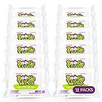 Boogie 濕巾柔軟天然鹽水紙巾適用于嬰兒和兒童敏感鼻子、手和面部,含保濕蘆薈、洋甘菊和維生素 E,無香味,30 支裝,12 支裝