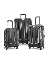 Samsonite Centric 3pc Hardside (20/24/28) Luggage Set, Black