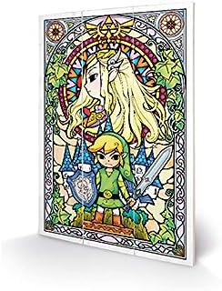 Nintendo 任天堂 木版画 塞尔达传说 29.5 x 20 cm