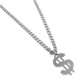 时尚美元符号吊坠项链男女同款钛钢朋克嘻哈颈链项链个性化摇滚珠宝礼品 BFF
