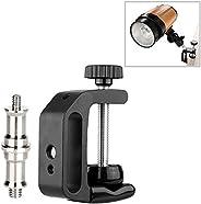 Fomtio Q型 夹子 多功能夹子 通用夹子 带1/4和3/8螺丝适配器 适用于尼康/索尼/卡农/奥林巴斯/宾得 Speedlite PB960 闪光电池组固定支架摄影工作室