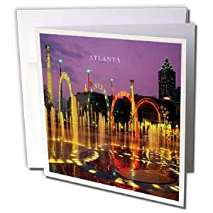 Florene 夜景观 - 奥林匹克公园亚特兰大乔治亚州 - 贺卡 Set of 12 Greeting Cards
