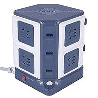BESTEK 百事泰 MRJ8302 插座 立式插座 插排 插线板 USB3口 带独立开关 排插接线板 立体排插 智能多功能插座 1.8米线 顺丰/德邦发货 可开专票