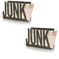 AntiqueCO 金属镂空帆布设计桌面邮件夹,适用于办公桌、办公室、礼品(2 件装)。