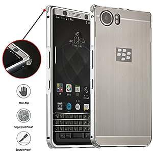BlackBerry KEYone 手机壳,FARRED360 可拆卸 2 合 1 轻质*耐用手机壳,金属缓冲和防震防滑硬质后盖手机保护套适用于 BlackBerry Mercury DTEK70 银色
