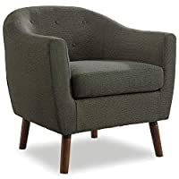 Homelegance Lucille 纽扣镂空低腰曲线靠背装饰椅带涤纶套