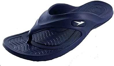 齿轮 ONE 男式橡胶凉鞋拖鞋舒适淋浴沙滩鞋懒人拖鞋 蓝色 7 D(M) US
