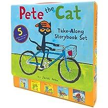 (进口原版) 皮特猫 Pete the Cat Take-Along Storybook Set: 5-Book 8x8 Set