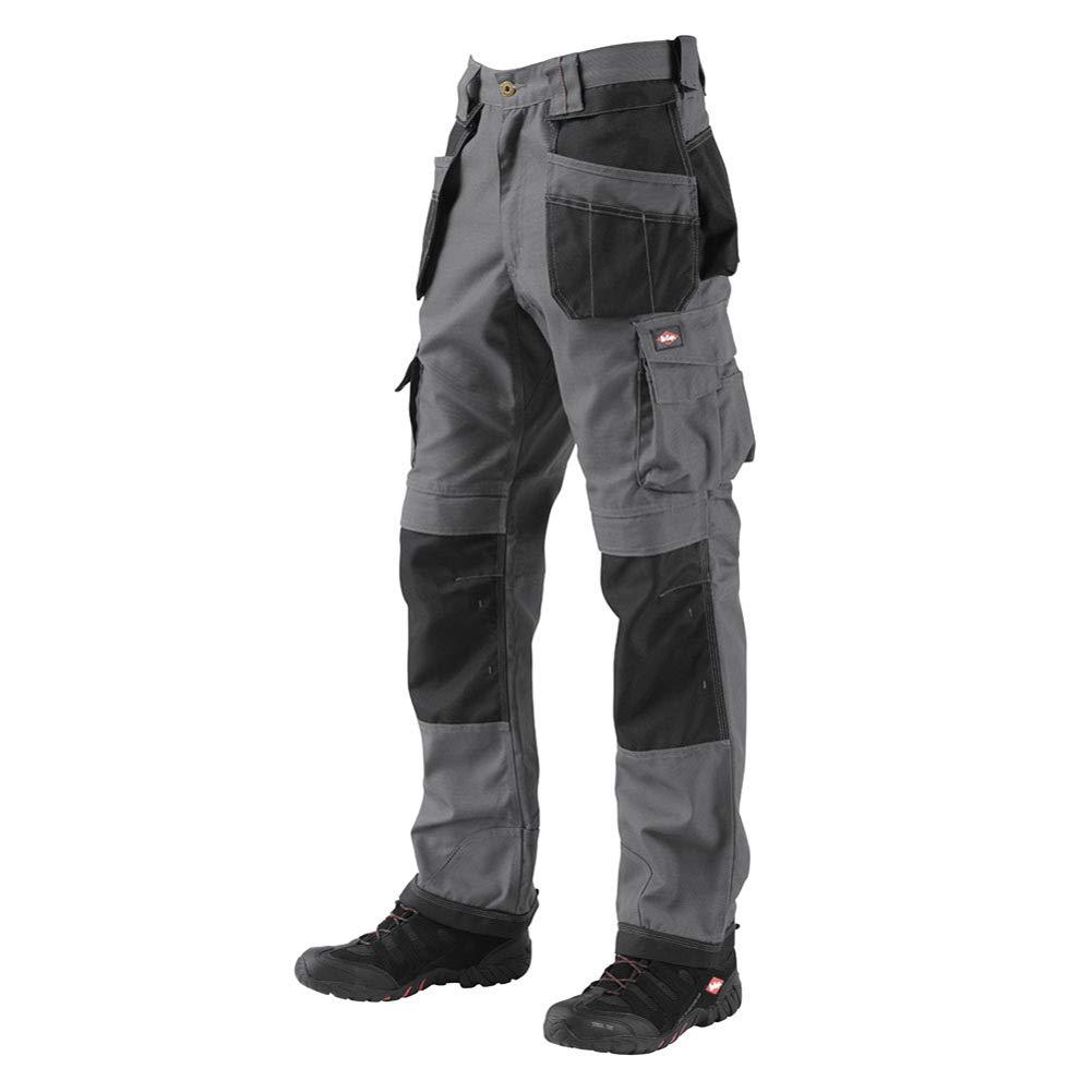 Lee Cooper 男士 210 工装裤 灰色/黑色 38W x 32L LCPNT210 PANT GREY/BLK 38R