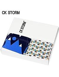 CK STORM 男士内裤 2条礼盒装男内裤 时尚系列U凸囊袋清爽印花莫代尔平角裤