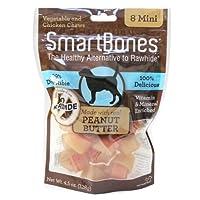 SmartBones洁齿骨狗零食迷你花生酱味8支袋装SBPB-00210