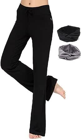 Codyna 瑜伽裤带头带 [ 修身靴腿/裙装/加大码 ] 女式健身打底裤