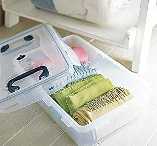 Lock&lock 不含 BPA 多用途存储容器,配有防漏锁盖和手柄,10-1/26 夸脱,338 液体盎司