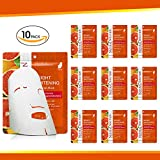 Natural Solution 8234B-10PK 亮白丝面膜,血橙和维生素 C,25 克