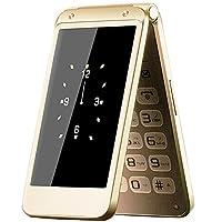 纽曼(Newman)F9 翻盖双屏移动联通老人手机大字大声一键拨号老年机翻盖接听男女老人机 (尊贵金)