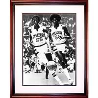 Steiner Sports NCAA 雪城橙色 Roosevelt Bouie 和 Louis Orr 篮球带框镀有16x20 照片