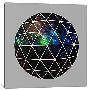 """iCanvasART Space Geodesic Canvas Print by Terry Fan, 26"""" x 26""""/0.75"""" Deep"""