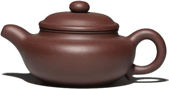 Mozentea 中国产自zisha 手工制作紫色粘土茶壶泥水茶沙壶水壶适用于东京茶的*佳礼物 YT2 Fangguhu