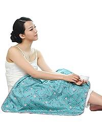 氧层防辐射服肚兜桑蚕丝孕妇防辐射毯子四季盖毯办公室怀孕午休毯 (蔷薇花开)
