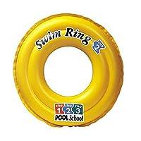 INTEX 美国58231黄色泳校浮圈 儿童游泳圈 救生圈 超安全双气室游泳圈