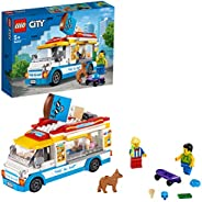 LEGO 60253 City Great Vehicles 冰淇淋卡车玩具带滑冰机和狗模型,适合 5 岁以上儿童