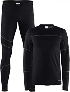 Craft Sportswear 男士北欧越野滑雪和户外运动打底衫和裤子套装:滑雪/寒冷/假装