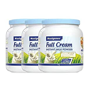 Maxigenes 美可卓 高钙全脂奶粉 1kg*3(澳大利亚进口) (跨境自营,包邮包税,新老包装交替发货)