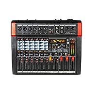 Audio2000'S AMX7372 六声道音频混音器,带 320 DSP 音效,立体声子输出,带减低级别控制渐变器,所有声道上的水平控制渐变器,以及 USB / 计算机接口
