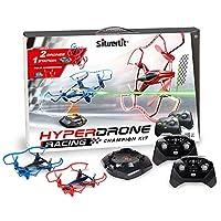 Silverlit 银辉 电动玩具 动感飞机 高速竞技四轴任务机 儿童遥控飞机玩具(豪华双游戏套装) (包含:任务机*2 基站*1 遥控器*2)SLVC847750CD00101