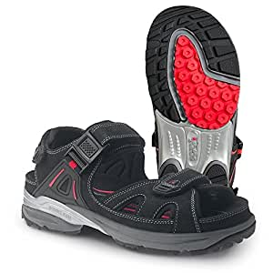"Ejendals 2552-35 尺寸 35 ""Jalas 2552 Cool Sport""凉鞋 - 黑色/红色"