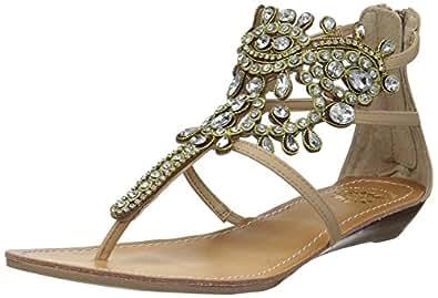 Yellow Box 女士 P-araminta 坡跟凉鞋 天然 7.5 M US