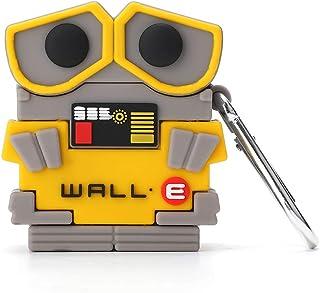 caicaishucaidian 兼容Airpods 1和2,搞笑3D卡通硅胶墙·E设计,适合时尚女孩儿童青少年男孩Airpods外壳(Wall·E)