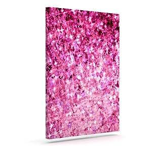 "Kess InHouse Ebi Emporium""Romance Me"" 粉红色闪光户外帆布墙壁艺术 24"" x 30"" 粉红色 JD1026AAC05"