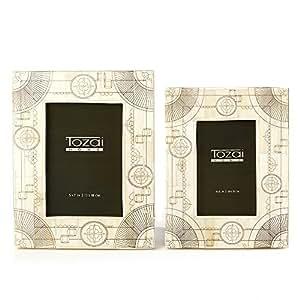 Two's Company Tozai Scrimshaw 相框,2 件套
