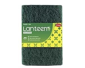 LANTEEM 一般用途清洁垫 - 高弹性清洁剂 - 360o 产品整体使用 绿色 常规 PM08GN