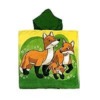 fox family 儿童连帽斗篷浴巾
