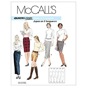 McCall's Patterns M3830 Misses' Skirts In 5 Lengths, Size FF (16-18-20-22)