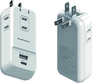 带USB电源插座 国内外型 白色 3口電源コンセント/1USB-A/1Type-C/3.4A NWM-10