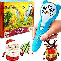 MeDoozy 3D 笔 - 适合女孩和男孩的艺术和工艺玩具 - 儿童* - 无线 - 无洞洞鞋 - 可爱的猫咪、熊和小猪 - 模具和模具套装 - 项目书