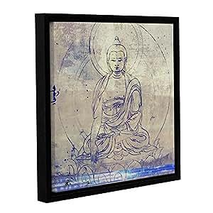"""Tremont Hill Elena Ray""""Buddha Remix IV"""" 画廊装裱地板画框油画 棕色 14X14"""" 0ray239a1414f"""